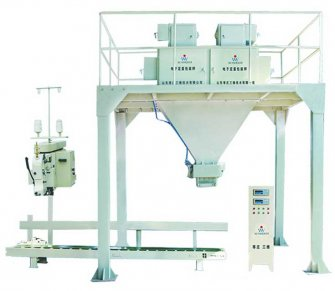 Dual bucket scale for packing particulate materials