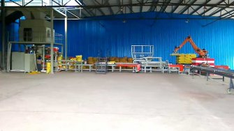 Fully automatic packing high-position palletizer production line