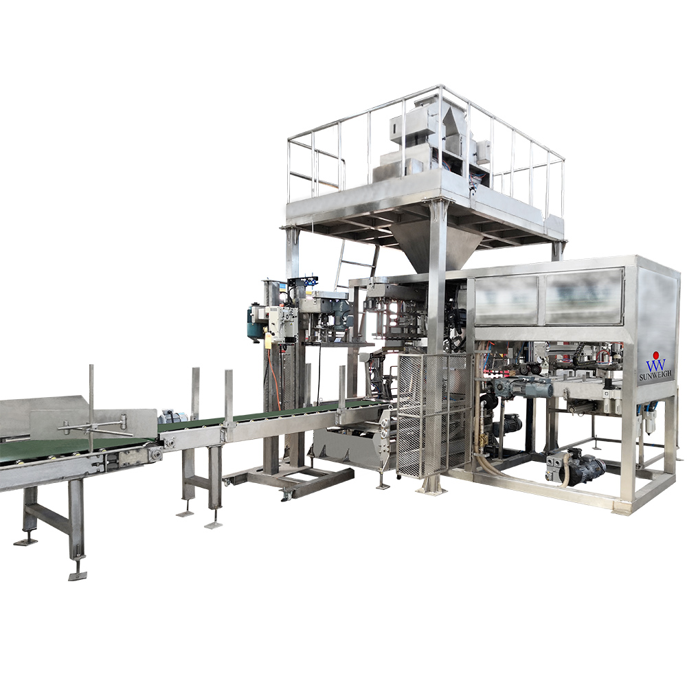 Gravity type feeding full-automatic packaging machine
